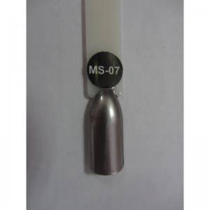 Гель-лак металлик Nice MS-01 №7 серебро