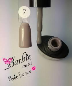 Гель-лак Barbie Nails №7 серо-кофейный