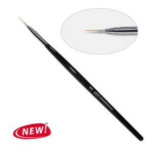7D. Кисть для дизайна круглая 0-s PNB, нейлон/Nail Art Brush round 0-s, nylon