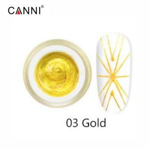 Гель-паутинка Canni №3, золото | 3D Embossing gel