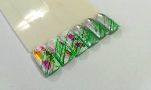 Эластичная гель краска Mett ( 3D, паутинка) № F007 зеленая