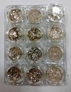 Набор декора микс для дизайна ногтей, серебро