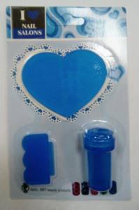 Набор для стемпинга силиконовый, пластинка сердце