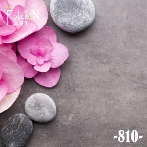 Фотофон виниловый 30см/30см Камни и цветы 810