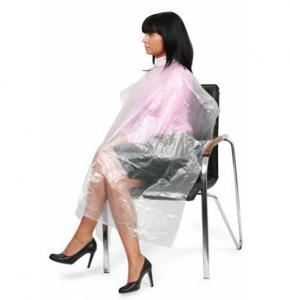 Пеньюар одноразовый из полиэтилена для парикмахерских/косметологических работ, цветной, в упаковке 50 штук