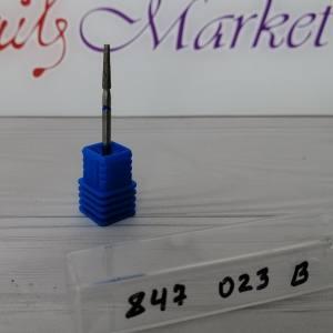 Фреза алмазная усеченный конус 847-023B диаметр 2.3мм, синяя