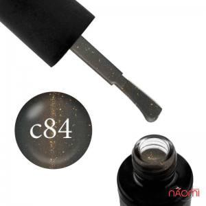 Гель-лак Naomi Cat Eyes С84, 6 мл серый с бликом, плотный.