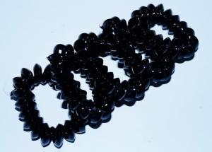 Резинка-пружинка черная средняя
