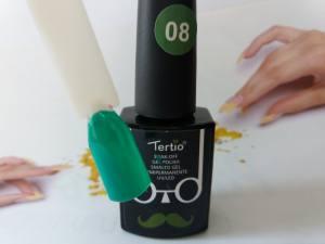 Гель-лак Tertio Baffo 10мл №8 зелено-бирюзовый