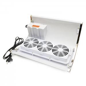 Настольная маникюрная вытяжка 858-5 (на две руки) 3 вентилятора