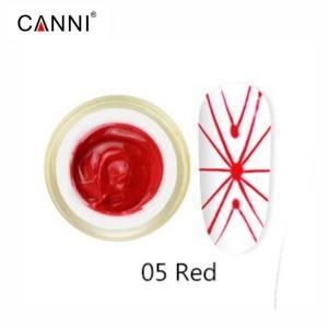 Гель-паутинка Canni №5, красный | 3D Embossing gel