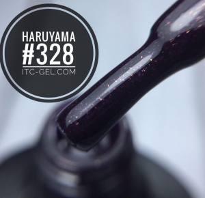 Гель-лак Haruyama Классика №328, темно-фиолетовый с мелкими блестками, 8 мл