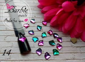Стразы фигурные стекло BarbieNails 1шт №14