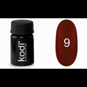 Гель-краска Kodi №9 темно-бордовая 4мл