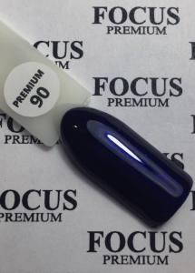 Гель-лак Focus Premium 8мл №90 приглушенный, темно-синий, микроблеск