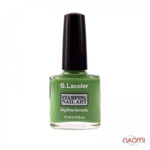 Лак-краска для стемпинга G.Lacolor №8 зеленый