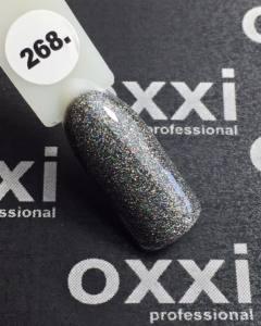 Гель-лак OXXI Professional №268 черный, микроблеск, 8 мл