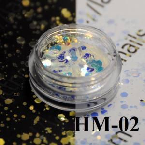 """Конфетти """"Брокат"""" для дизайна ногтей, HМ-02"""
