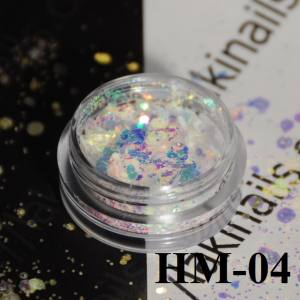 """Конфетти """"Брокат"""" для дизайна ногтей, HМ-04"""