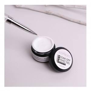Гель-краска Komilfo Soak Off №002 White (белый), 5 мл