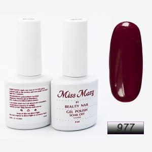 Гель-лак Miss Mary 8ml № 977 ( винный )