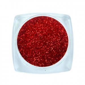 Komilfo блесточки Solvent Resistance Series 402, размер 0,1 мм, 2,5 г красный