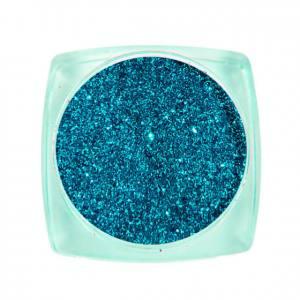 Komilfo блесточки Solvent Resistance Series 408, размер 0,1 мм, 2,5 г сине-изумрудный