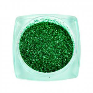Komilfo блесточки Solvent Resistance Series 411, размер 0,1 мм, 2,5 г зеленый