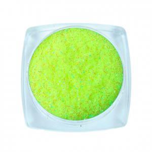 Komilfo блесточки Rainbow Series 514, размер 0,2 мм, 2,5 г неоновый желто-салатовый