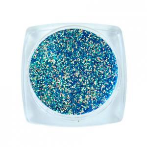 Komilfo блесточки Super Rainbow Series 606, размер 0,2 мм, 2,5 г голубой с салатово-золотым отливом