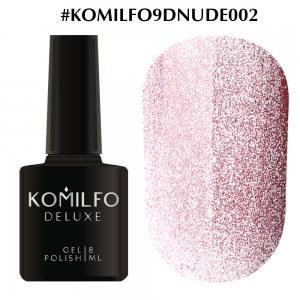 Гель-лак Komilfo 9D Cat's eye Nude 002 (розовый, магнитный), 8 мл