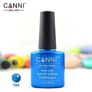 Гель-лак Canni №194 синий с микроблеском