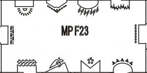 Многоразовый трафарет для аэрографии 6*12см №23