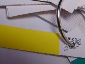 Фольга для кракелюра желтая 1м