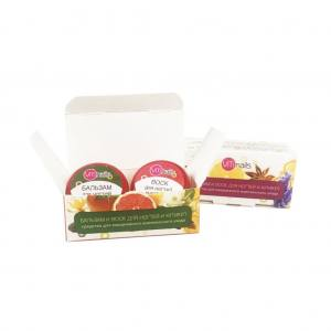 Бальзам мандарин+корица и воск для ногтей и кутикул лимон+кедр  VITI nail