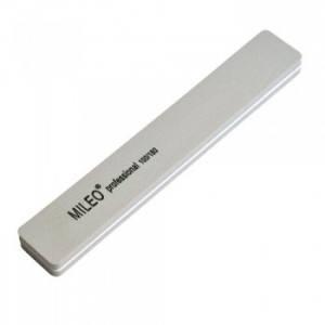Пилка-шлифовщик для ногтей Mileo professional прямоугольная широкая серая 100/180