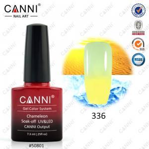 Термо гель-лак CANNI №336 (желтый, при нагревании - бледно-зеленый), 7.3 мл