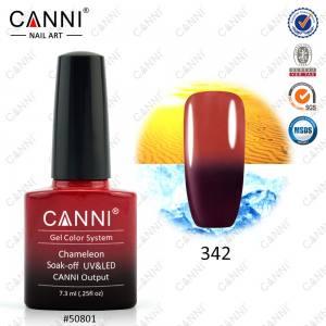 Термо гель-лак Canni №342 вишневый-красный