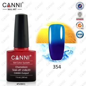 Термо гель-лак Canni №354 королевский синий-голубой
