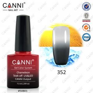 Термо гель-лак Canni №352 серый-светло серый