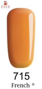 Гель-лак F.O.X French №715 (желто-бежевый, эмаль)