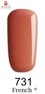 Гель-лак F.O.X French №731 (светлый розово-коралловый, эмаль)
