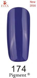 Гель-лак F.O.X №174 (фиолетово-синий, эмаль), 6 мл