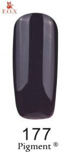 Гель-лак FOX №177 (пастельный темно-фиолетовый, эмаль), 6 мл