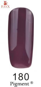 Гель-лак FOX №180 (грязно-фиолетовый, эмаль), 6 мл