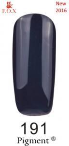 Гель-лак F.O.X №191 (темный, серо-синий, с шиммером), 6 мл