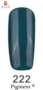 Гель-лак FOX №222 (мятно-зеленый, эмаль), 6 мл