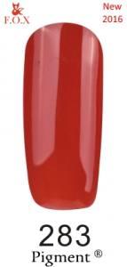 Гель-лак F.O.X №283 (темный красно-оранжевый, эмаль), 6 мл