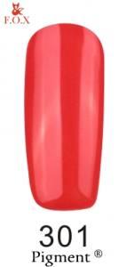 Гель-лак FOX №301 (ярко-кораловый, эмаль), 6 мл