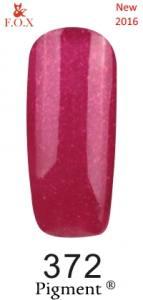 Гель-лак F.O.X №372 (малиновый с насыщенным микроблеском), 6 мл
